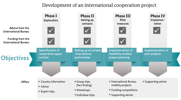 Develpment of international cooperation process