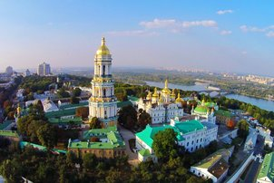 Aerial view of the Pechersk Lavra monastry in Kiev  © kariochi - stock.adobe.com