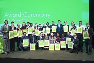 Group photo of the Green Talents at the award ceremony 2016
