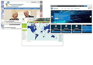 Screens of the IB-Websites