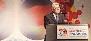 German President Gauck speaks at the Conference in Seoul