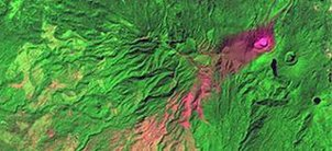 Satellite image Costa Rica