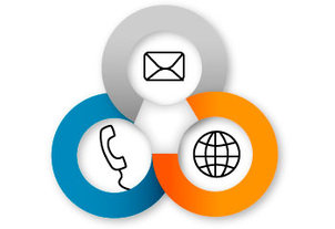 Contact-Icons - Mail, Phone, Internet